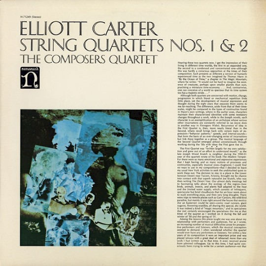 The Composers Quartet: Elliott Carter: String Quartets Nos. 1 & 2