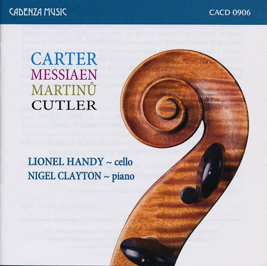 Lionel Handy & Nigel Clayton: Carter Cello Sonata