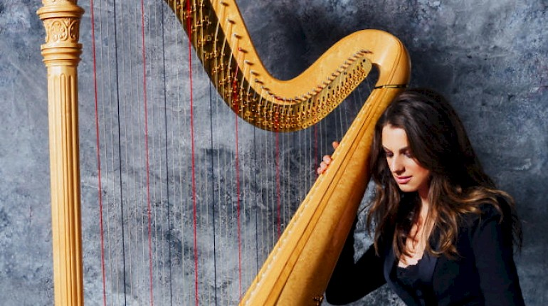 Harpist Bridget Kibbey plays Carter at the 2016 VIVO Music Festival