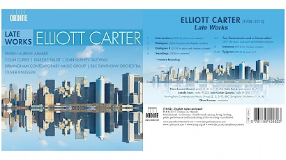 "Elliott Carter Late Works is ""Recording of the Month"" on MusicWeb International (review)"