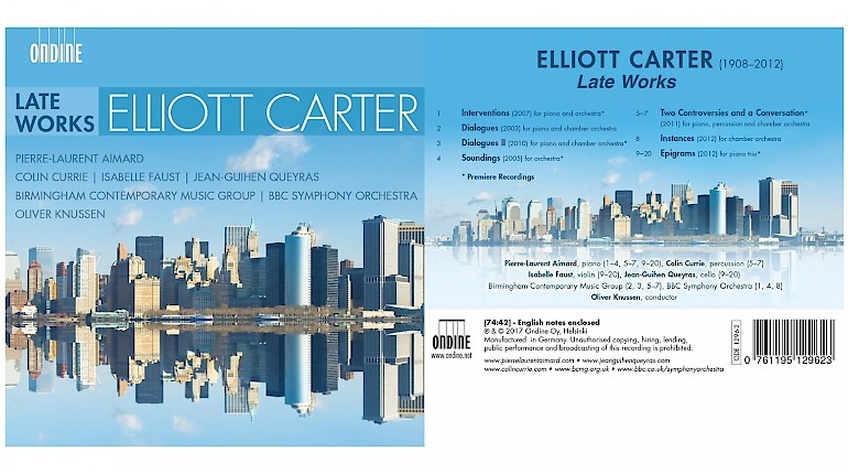 Carter Late Works recording nominated for 2018 ICMA Award